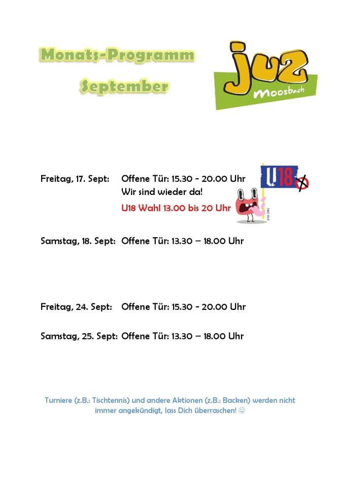 Monatsprogramm September 21